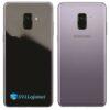Samsung Galaxy A8 Adesivo Skin Preto Black Piano