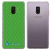 Samsung Galaxy A8 Plus Adesivo Skin Carbono Verde