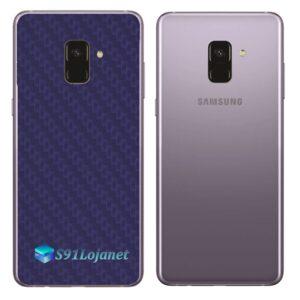 Samsung Galaxy A8 Plus Adesivo Skin Carbono