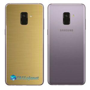 Samsung Galaxy A8 Plus Adesivo Skin Metal Ouro Escovado