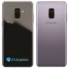 Samsung Galaxy A8 Plus Adesivo Skin Preto Black Piano