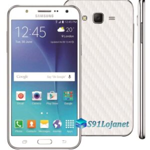 Samsung Galaxy J7 Adesivo Skin Carbono Branco