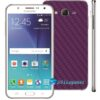 Samsung Galaxy J7 Adesivo Skin Carbono Roxo