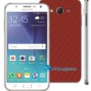 Samsung Galaxy J7 Adesivo Skin Carbono Vermelho