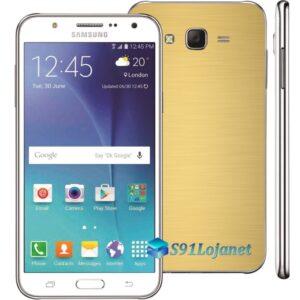 Samsung Galaxy J7 Adesivo Skin Metal ouro