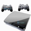 Skin Ps3 Slim Playstation 3 Slim Adesivo Brilho Preto Black Piano