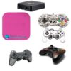 TV Box 4k Adesivo Skin +2 Skin Controle Carbono Rosa
