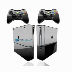 Xbox 360 Super Slim Skin Adesivo Brilho Preto Black Piano