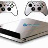 Xbox One X Skin Adesivo Metálico Cromo