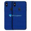 iPhone X Adesivo Skin Carbono Azul