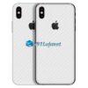 iPhone X Adesivo Skin Carbono Branco