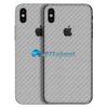 iPhone X Adesivo Skin Carbono Cinza