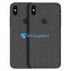 iPhone X Adesivo Skin Carbono Preto Negro
