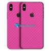 iPhone X Adesivo Skin Carbono Rosa Pink