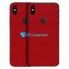 iPhone X Adesivo Skin Carbono Vermelho
