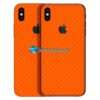 iPhone X Adesivo Skin Carbono laranja