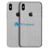 iPhone X Adesivo Skin Metal Aluminio Escovado