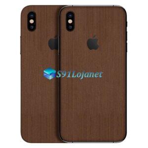 iPhone X Adesivo Skin Metal Bronze