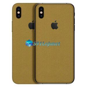 iPhone X Adesivo Skin Metal Ouro Gold