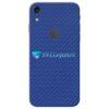 iPhone XR Adesivo Skin Carbono Azul