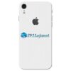iPhone XR Adesivo Skin Carbono Branco