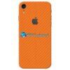 iPhone XR Adesivo Skin Carbono Laranja