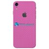 iPhone XR Adesivo Skin Carbono Rosa Pink