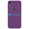 iPhone XR Adesivo Skin Carbono Roxo