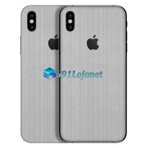 iPhone XS Adesivo Skin Metal Aluminio Escovado