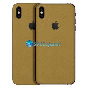 iPhone XS Adesivo Skin Metal Ouro Gold