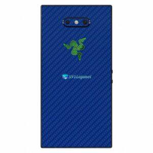 Razer Phone 2 Adesivo Traseiro Película Skin Carbono Azul