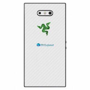 Razer Phone 2 Adesivo Traseiro Película Skin Carbono Branco