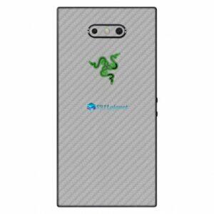 Razer Phone 2 Adesivo Traseiro Película Skin Carbono Cinza