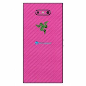 Razer Phone 2 Adesivo Traseiro Película Skin Carbono Rosa