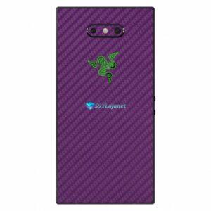 Razer Phone 2 Adesivo Traseiro Película Skin Carbono Roxo