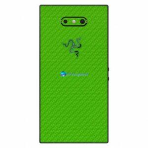 Razer Phone 2 Adesivo Traseiro Película Skin Carbono Verde
