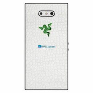Razer Phone 2 Adesivo Traseiro Película Skin Couro Branco