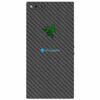 Razer Phone Adesivo Traseiro Película Skin Carbono Preto