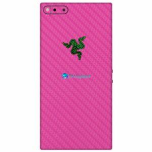 Razer Phone Adesivo Traseiro Película Skin Carbono Rosa