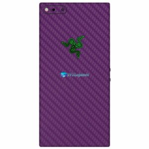 Razer Phone Adesivo Traseiro Película Skin Carbono Roxo