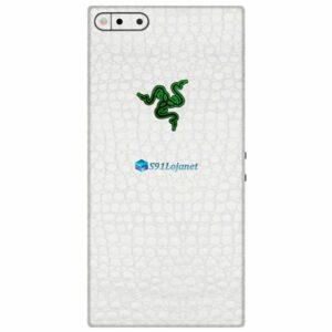 Razer Phone Adesivo Traseiro Película Skin Couro Branco