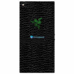 Razer Phone Adesivo Traseiro Película Skin Couro Negro