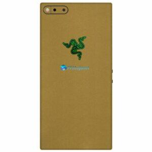 Razer Phone Adesivo Traseiro Película Skin Metal Dourado