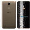 LG K10 Adesivo Traseiro Película FX Couro Negro