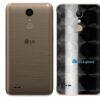 LG K10 Adesivo Traseiro Película FX Dimension Black