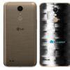 LG K10 Adesivo Traseiro Película FX Pixel Black