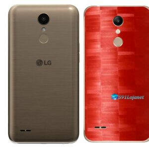LG K10 Adesivo Traseiro Película FX Pixel Vermelho