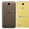 LG K10 Adesivo Traseiro Película Metal Dourado