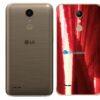 LG K10 Adesivo Traseiro Película Metal Gold Red