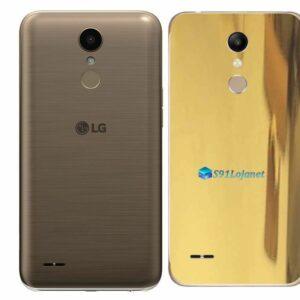 LG K10 Adesivo Traseiro Película Metal Ouro Gold
